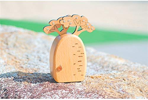 Bread Tree/Cactus Music Box Spieluhr - Bread Tree/Cactus Log Zubehör Weinregal mit Glashalter (Style : Bread Tree)