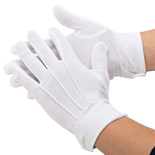 Ogquaton Guantes algodón blancos Guantes caballero