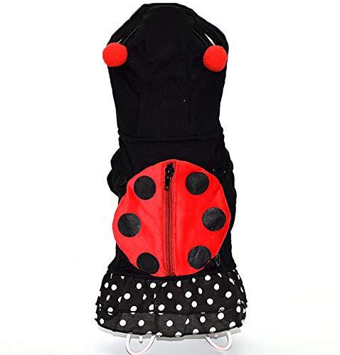 LBX Pet Halloween Ladybug Kostüm Gestricktes Polar Fleece Material Mehrere Größen Langlebig Leicht Zu Reinigen Weihnachtliche Lustige ()