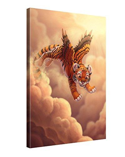 Gallery of Innovative Art - Kids Selection - Cloud Jumping - 40x60cm - XXL Leinwand-Druck in deutscher Marken-Qualität - Leinwand-Bilder auf Holz-Keilrahmen als moderne Wohnzimmer-Deko