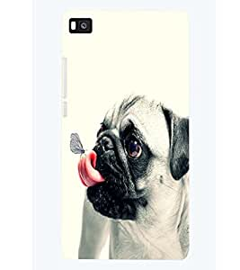 printtech Pug Back Case Cover for Huawei P8