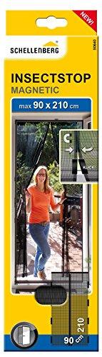 Schellenberg Insektenschutz-Magnetvorhang für Türen, 90 x 210 cm, anthrazit, 50640
