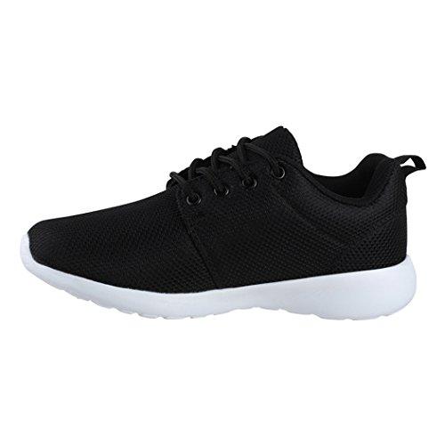 Elara Damen Herren Sneaker | Unisex Sport Laufschuhe | Fitness Runner | Turnschuhe | Chunkyrayan Schwarz L.A.