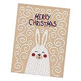 F Fityle Weihnachten Tapisserie Türvorhang Türvorhang Raumteiler Ornament für Balkon - Kaninchen Beige S