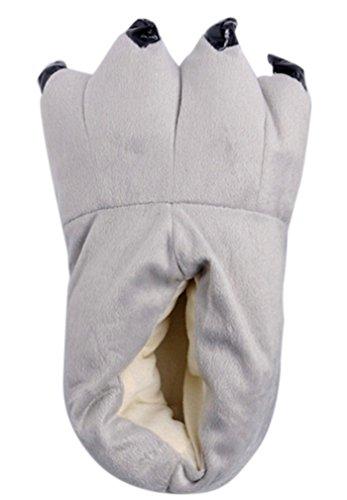 AIYUE Kigurumi Pigiama Adulto Unisex Animale Cosplay Zampa Artigli Scarpe Halloween Costume Peluche Pantofole Franella