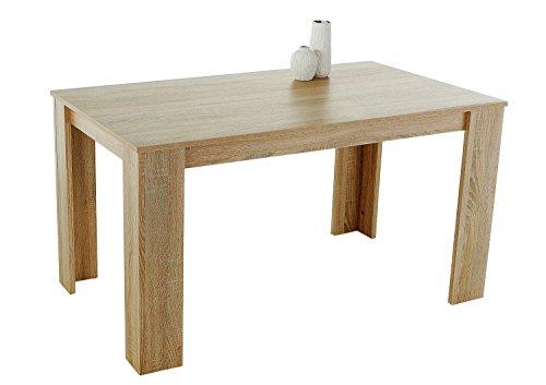 AVANTI TRENDSTORE - Doris - Tavolo da pranzo in quercia Sonoma d'imitazione, ca. 120x76x80 cm