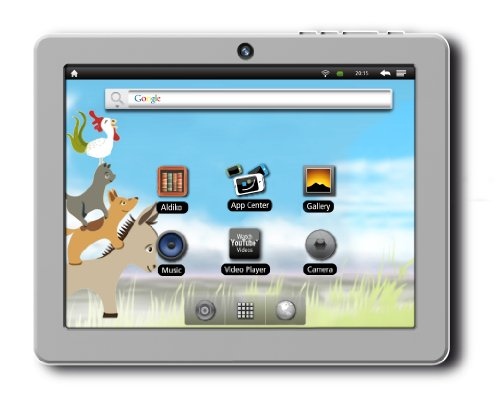 Odys Loox Grimm Edition 17,8 cm (7 Zoll) Tablet-PC (Cortex A8, 1,2GHz, 512MB RAM, 4GB HDD, WLAN, Android 2.3) inkl. 50 E-Books, 10 Hörspiele silber/weiß