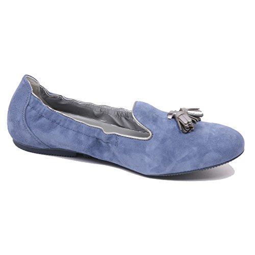 B4786 mocassino donna HOGAN WRAP 144 pantofola blu chiaro loafer shoe woman Blu chiaro