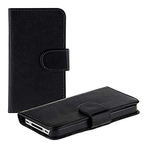 Coque Iphone 4 Cuir - kwmobile ÉTUI PORTEFEUILLE élégant et pratique avec