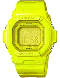 CASIO Baby-G Women's Quartz Watch with Yellow Dial Digital Display and Yellow Resin Strap BG-5602-9ER