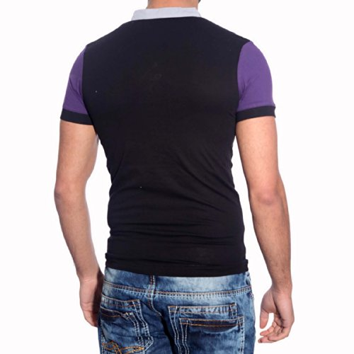 Polo T-Shirt 5069 Schwarz Rusty Neal Gelb