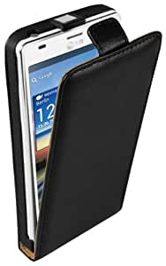 mumbi PREMIUM Leder Flip Case LG P880 Optimus 4X HD Tasche Hülle