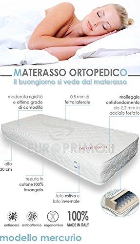 Materasso Matrimoniale Ortopedico A Molle.Europrimo Materasso Matrimoniale Ortopedico A Molle Bonnel Misura