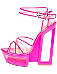 ROBERTO BOTELLA - <p>Sandalia transparente cruzada en vinilo</p> - Color Rosa - Talla 37