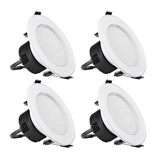 LE-4-Pezzi-Plafoniera-LED-da-incasso-Pari-incandescenti-75W-8W-400lm-Luce-Bianco-Caldo-3000K