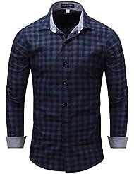 Printemps Automne Hommes Casual Automne Combinaison À Bascule T-shirt À Rayures De Coton Pur M-3XL