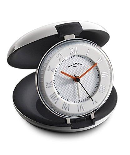 DALVEY Kapsel Reise -Uhr mit Stahlgehäuse und schwarz Innenraum
