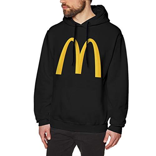 UfashionU Herren McDonalds Graphic Hoodie Langarm Kapuzenpullover für Teenager Jungen Herren Schwarz S -