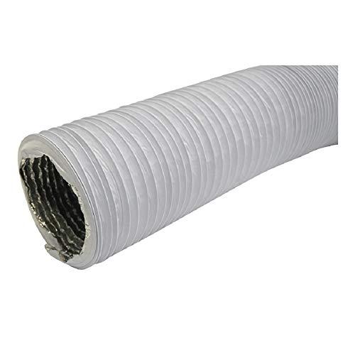 Abluftschlauch Durchmesser 102mm, Länge 1m mit Alu-Isolierung - für Trockner, Klimaanlage, Abzugshaube - Combi-Flexrohr Alu/PVC Flexrohr
