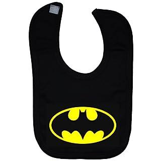 Bat Baby Feeding Lätzchen Touch Attach Batman - Schwarz
