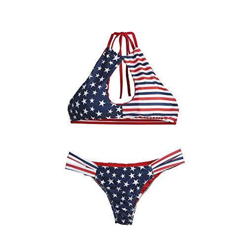 BRDOGD Badeanzug Bikini Frauen Bikini Bandage Frauen Bademode Push Up Verdicken BH Schwimmen Rückenfrei Bad Set, XL (Korsett Schwimmen Oben)