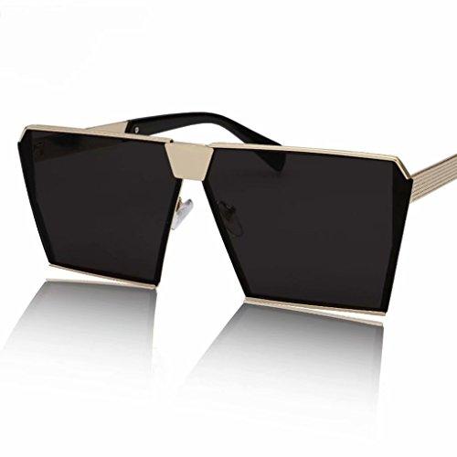 SUNGLASSES Sonnenbrille lccnew UV-Schutz polarisierte weiblich Augen Persönlichkeit Square Herren Fahren Hipster Brille Unisex, Kunstharz, Schwarz, 14.4 * 14.3cm