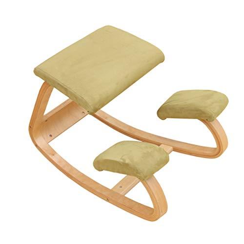 Qucasyl Ergonomischer kniender Stuhl Hochleistungsbessere Lage-kniender Schemel-Bürostuhl Haus für das Körper-Formen, das Druck-Meditations-Schreibtisch-Computer-kniender Schemel-Stuhl entlastet