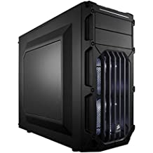 Corsair CC-9011053-WW Case Essential Gaming, Mid Tower Atx Carbide Spec-03, con Finestra e Ventola Frontale a LED, Bianco Nero