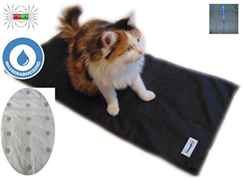 Magnetfeld-therapie,Magnetfeldmatte, Magnetfelddecke, für Katzen und kleine Hunde ideal geeignet bei Arthrose, Ellenbogendysplasie, Altersschwäche u.s.w. Größe 88 cm x 42 cm in Anthrazit / Schwarz