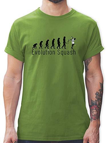 Evolution - Squash Evolution - S - Hellgrün - L190 - Tshirt Herren und Männer T-Shirts
