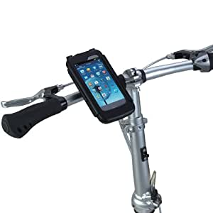 Tigra Sport BikeConsole Cycling Bike Kit Incuding Waterproof Case Cover and Handlebar Stem Mount for Samsung Galaxy S3- Black
