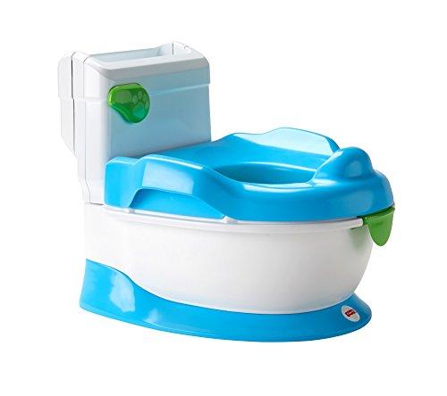 Fisher-Price FRG78 - Lernspaß Töpfchen Toilettentrainer mit Griffen und, ab nehmbarem Sitzaufsatz inkl. Musik und Geräuschen für Kleinkinder deutschsprachig