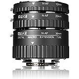 Meke MK-N-AF1-A Macro Electrónico automático y soporte Foucs adaptador metal Tubo de extensión de Macro para Nikon DSLR Cámara y Nikkor AF, AF-S, D, G y VR lente cámaras de la serie D80D90D300d300sd800D3100D3200D5000D51000D5200D7000D7100etc. Meike