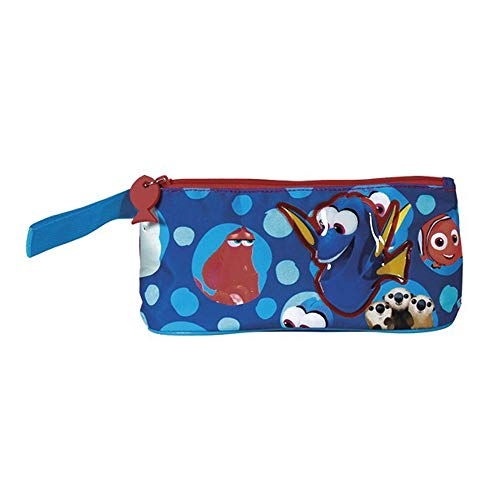 Federmäppchen Findet Dorie - Finding Dory Etui für Kinder - Disney Pixar Schulmäppchen mit Reißverschluss - Mäppchen für die Schule und Reise - Hellblau - 21x10x8 cm - Perletti