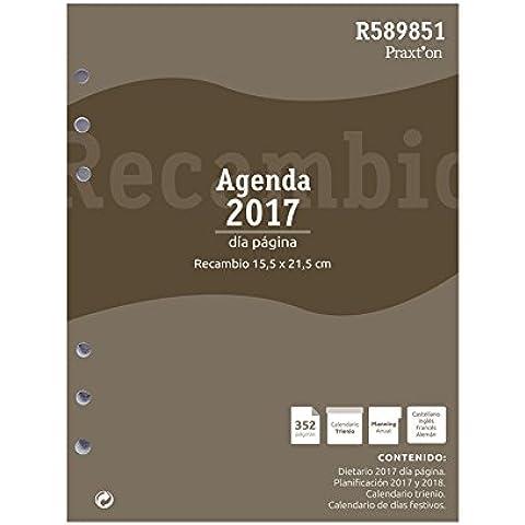 Recambio Anual Agenda Praxton R1098 1000 1D/P 2017