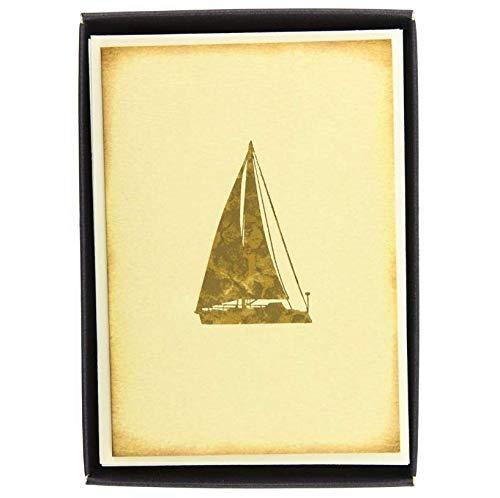 Boxed Notes: Sailtboat Heritage - Gruß- und Geschenkkartenbox mit Kuverts: Segelboot