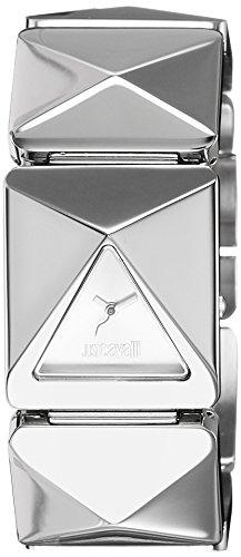 Just Cavalli 4 Face Just Time R7253130615 - Reloj de mujer de cuarzo, correa de acero inoxidable color plata