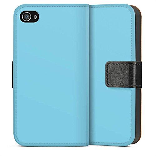 Apple iPhone 6 Housse Étui Silicone Coque Protection Turquoise Bleu Bleu Sideflip Sac