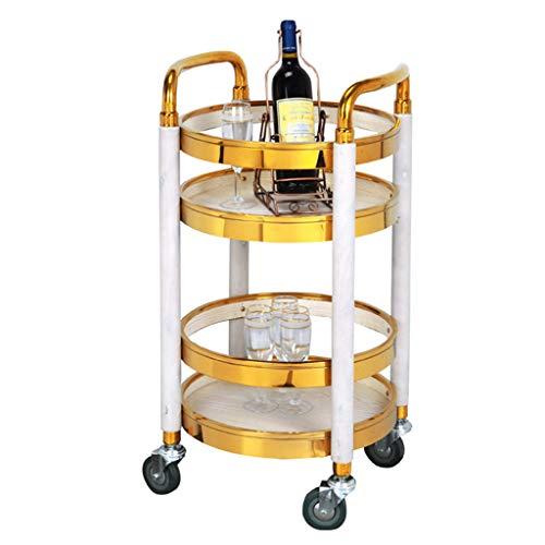 Chariot à vin en Bois Massif, Chariot de Rangement Multifonction Utilitaire, Bar Haut de Gamme, Bar à café Kicthen pour Salle à Manger, Support à Tablette pour Organisateur (2 Styles)