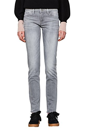 edc by ESPRIT Damen Slim Jeans 997CC1B822, Grau (Grey Light Wash 923), W33/L34 (Denim Grey Jean Baumwolle Light)