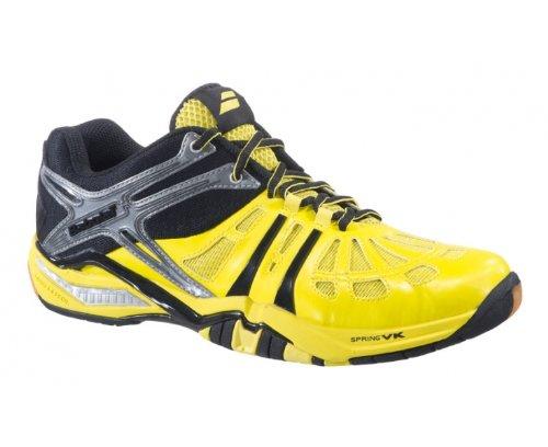 BABOLAT SHADOW 2M Badminton Squash Schuhe verschiedene Farben Schwarz/Gelb