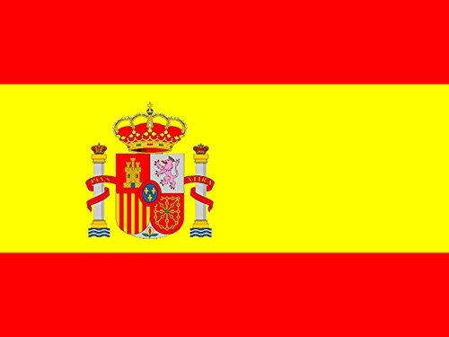 Bandera de España con escudo. 150 X 90 cm. Interior y exterior. Spain flag. Yearol.