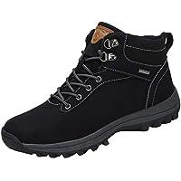 Mishansha Wasserdicht Trekking Wanderschuhe Outdoor Damen Herren Winterschuhe rutschfest Stiefel Dämpfung Hiking Boots Wanderhalbschuhe, Schwarz 43