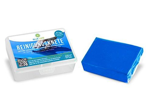Blue Lime XXL Auto-Reinigungsknete/Lackknete (180g) zur Lackpflege und als Flugrostentferner - Ideal vor dem Lackieren, Versiegeln, Polieren, Wachsen, Aufbringen von Autofolie