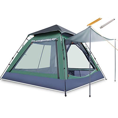 TonXiory 3-4 Personen Camping Zelt,Wasserdichte automatische popup-Outdoor-Sportarten kuppelzelt Camping Sonne unterstände -grün 215x215x145cm(85x85x57inch)