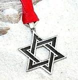 Peltre estrella de David Hanukkah judío adorno de Navidad y decoración de vacaciones