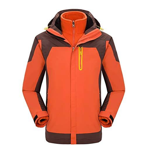 AXIANQI High-End Outdoor Zweiteilige Jacke Männer Und Frauen Modelle Fleece Liner Winter Kalt Warm Arbeitskleidung A (Color : Lady orange, Size : M) Jacke Fleece Liner