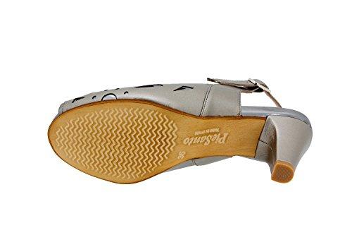 Scarpe donna comfort pelle Piesanto 6279 décolleté di sera comfort larghezza speciale Gris