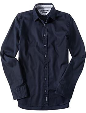 Marc O'Polo Herren Hemd Oberhemd, Größe: XXL, Farbe: Blau