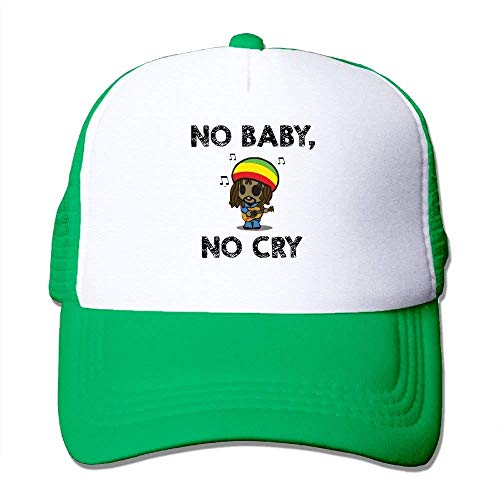 No Baby, No Cry - Bob Marley Mesh Hat Sports Trucker Hat ()